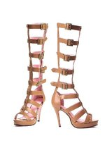 "Leg Avenue Roma 4"" Faux Leather Tan Platform Sandals in Fort Campbell, Kentucky"