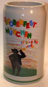 October Fest Beer Stein 1983 in Ramstein, Germany